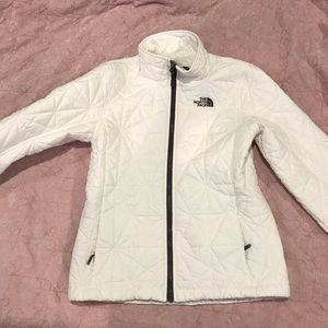 The north face white jacket xs